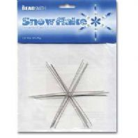 Christmas Snowflake Ornament Wire Form 6 inch 6PC Set